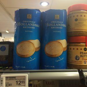 hollandse beschuitjes in de deense supermarkt