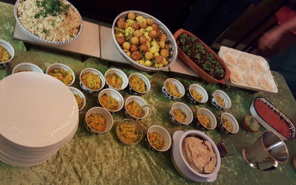 Heerlijke vegetarische hapjes tijdens de kookworkshop gemaakt